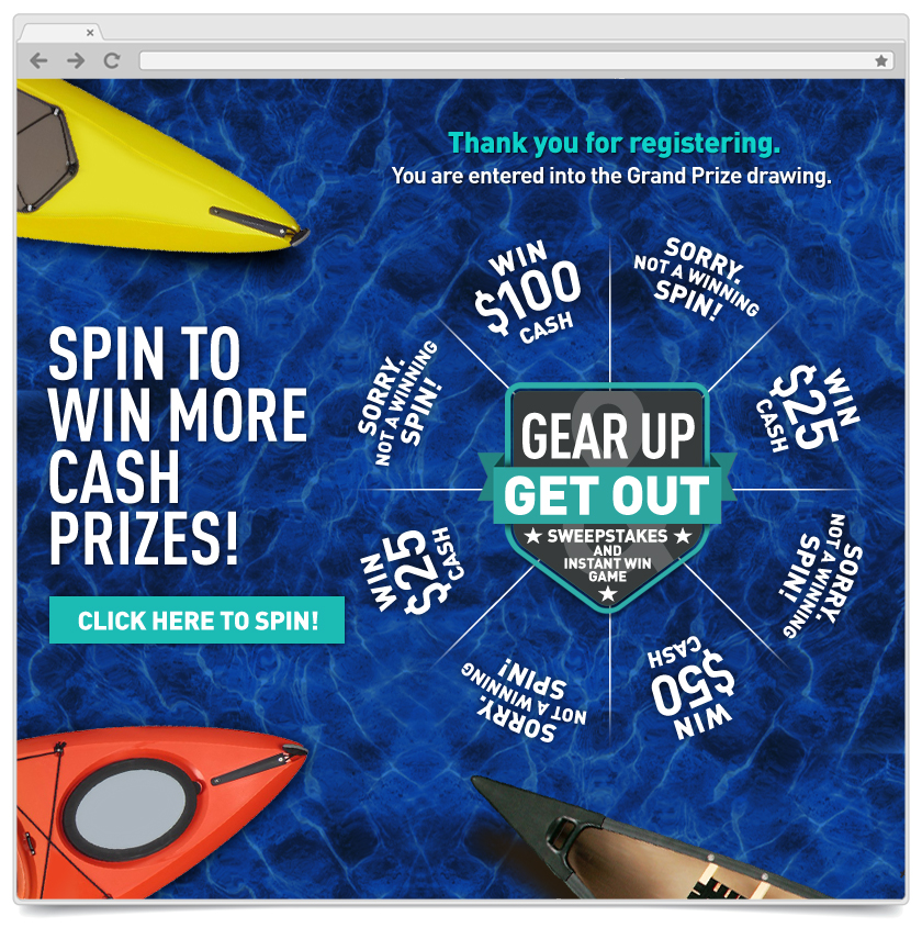 Spin To Win - Gear Up and Get Out