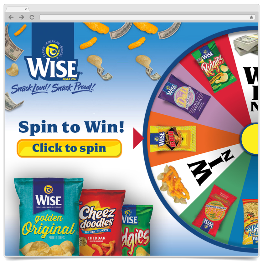 Spin To Win - Wise Snacks