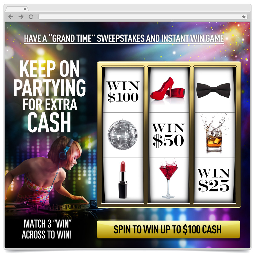 Slot Machine - Instant Win - Night on the Town